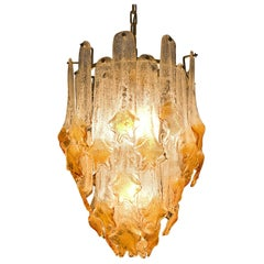 Murano 'Mazzega' Honey Chandelier, 1960s
