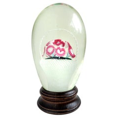 Murano Millefiori Flower Basket Italian Art Glass Paperweight Night Light
