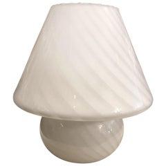 Murano Modern Midcentury Hand Blown Glass Mushroom Table Lamp