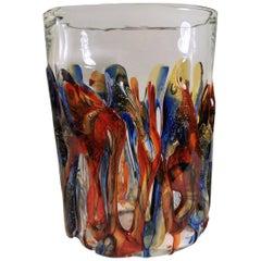 21th Century Murano Multi-Color Glass Vase