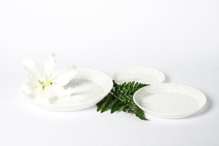 Murano Murrine Glass Plate 'Bouquet L White' Millefiori Technique In New Condition For Sale In Milan, IT