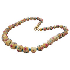 Murano necklace Millefiori around 1910