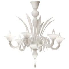 Murano Opaline Glass Chandelier