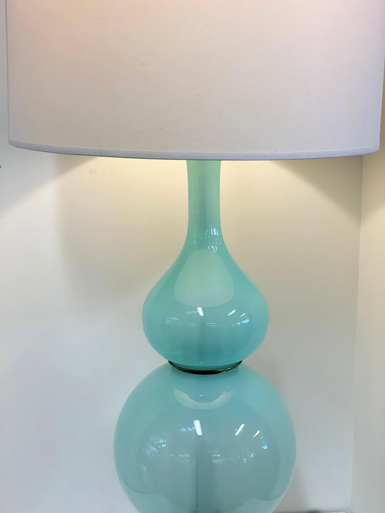 Murano Opaline Glass Lamp For Sale 1