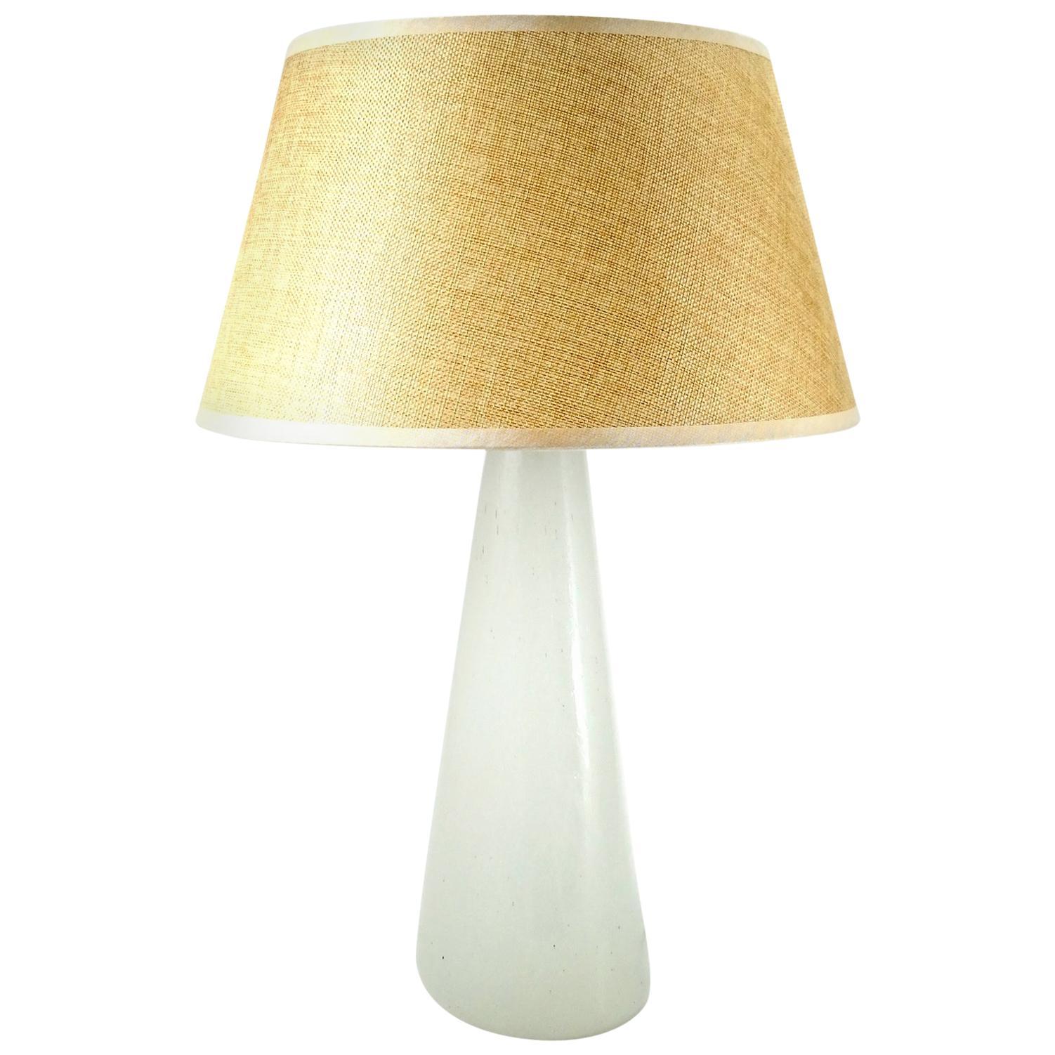 Murano Opaline Glass Table Lamp, 1970s