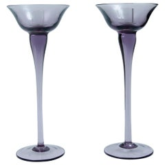 Murano Pair of Candle Holders, Italy