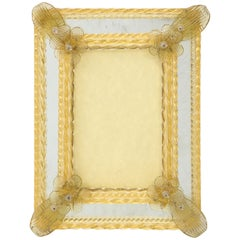 Murano Pale Yellow Picture Frame