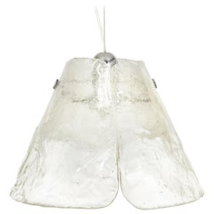 Murano Pendant Light Designed by Carlo Nason for Mazzega, 1970s
