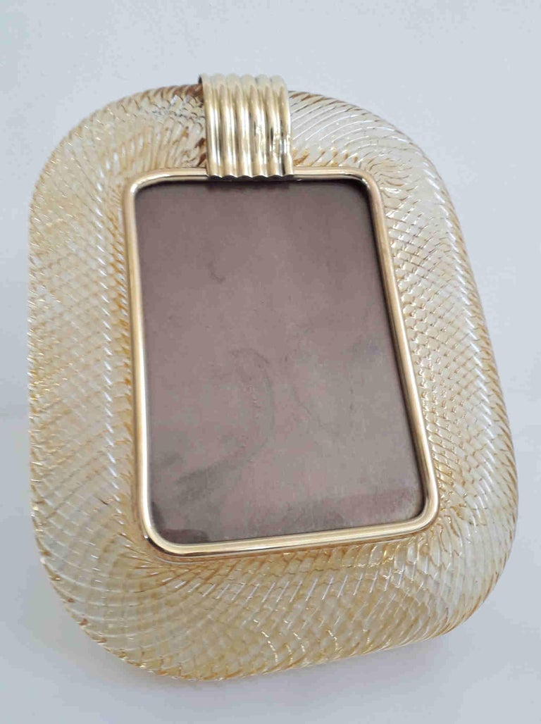 Murano Photo Frame by Venini, 2 Available In Good Condition In Palm Springs, CA