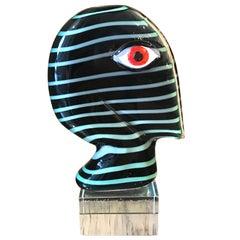 "Murano Portrait Bust ""IL Volto"" by Mario Badioli & Robert Scherer"