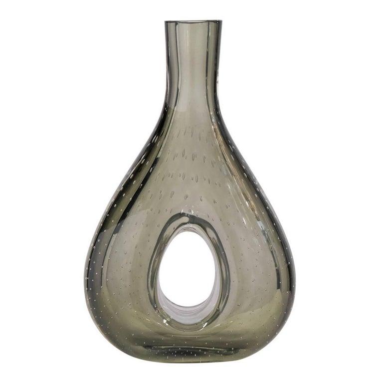 """Murano """"Pulegoso"""" Glass Vase"""