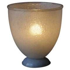 Murano Puleguso Glass Vase Table Lamp by Ferro Toso Barovier, Italy, 1937