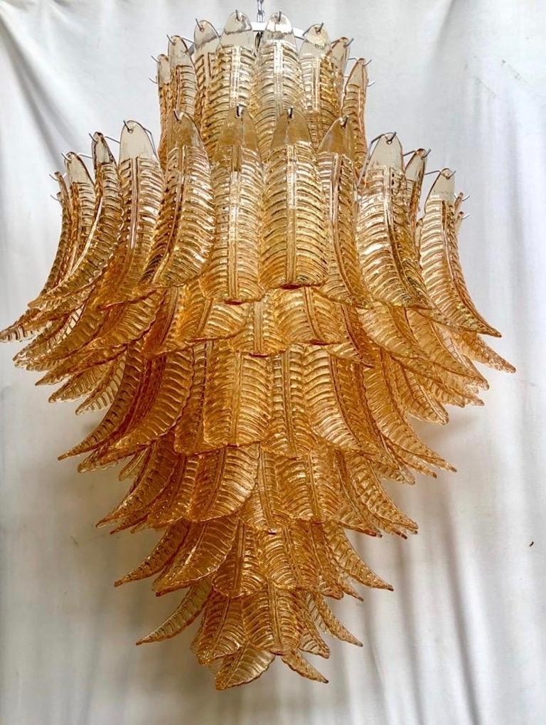 Murano Round Art Glass Midcentury Chandelier, 1990 In Good Condition For Sale In Rome, IT
