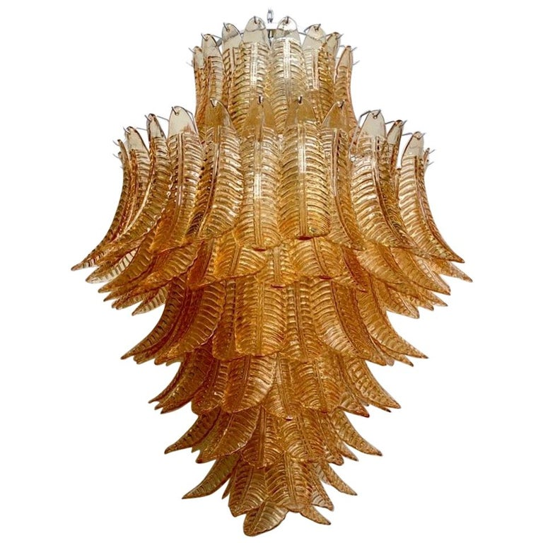 Murano Round Art Glass Midcentury Chandelier, 1990 For Sale
