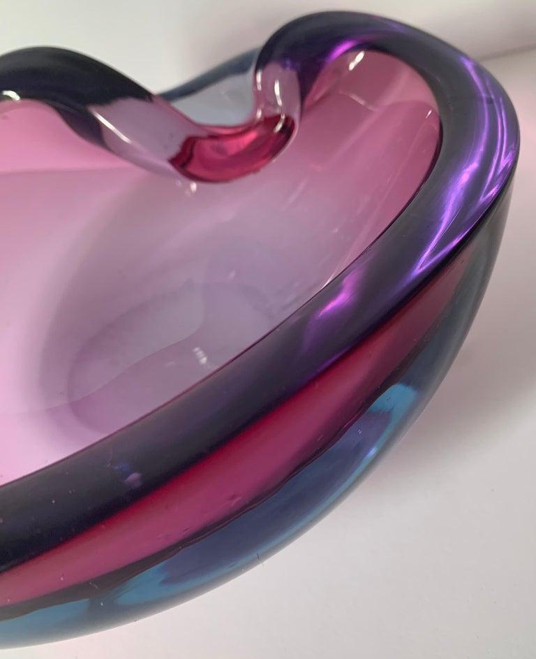 Murano Seguso Attributed Geode Purple Ashtray For Sale 1