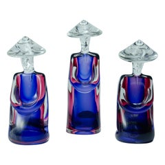 Murano Set of 3 Figures 'Chinese characters'
