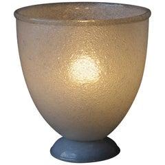 Murano Peleguso Glass Vase Table Light, Venini, 1940s