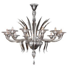 Murano Smoked Glass Chandelier by Barbini