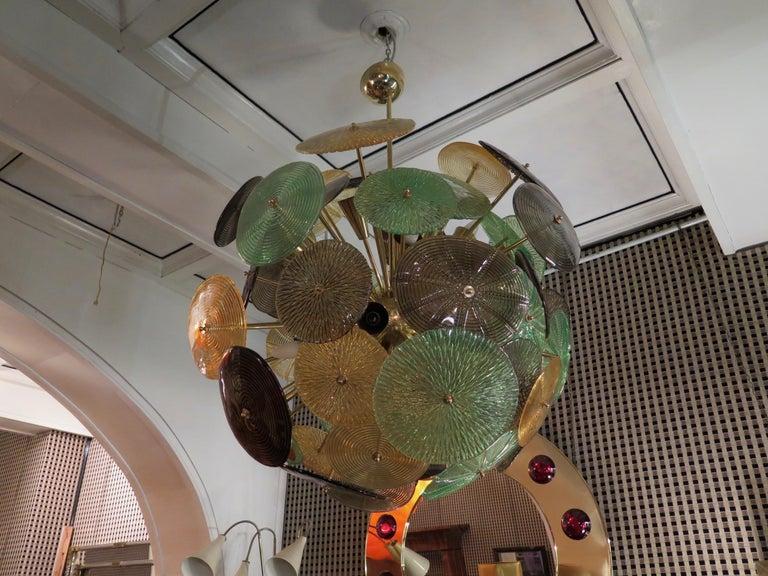 Murano Sputnik Art Glass Midcentury Chandelier, 1960 For Sale 3