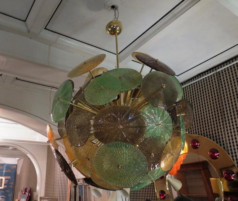 Murano Sputnik Art Glass Midcentury Chandelier, 1960 For Sale 5