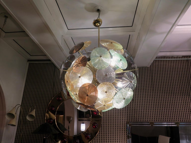 Murano Sputnik Art Glass Midcentury Chandelier, 1960 For Sale 7