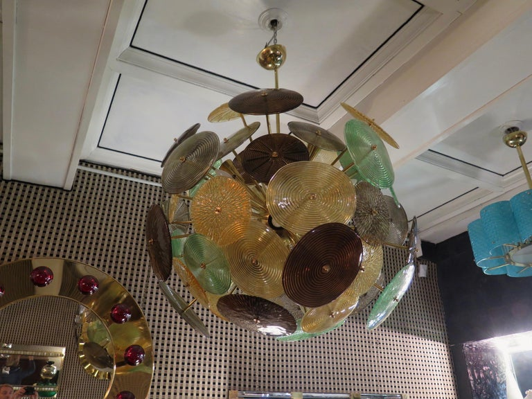 Mid-Century Modern Murano Sputnik Art Glass Midcentury Chandelier, 1960 For Sale