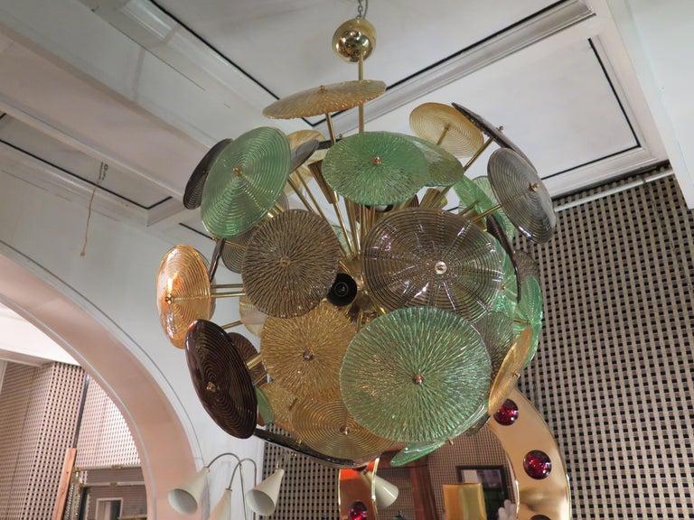 Murano Sputnik Art Glass Midcentury Chandelier, 1960 For Sale 1