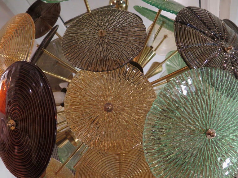 Murano Sputnik Art Glass Midcentury Chandelier, 1960 For Sale 2