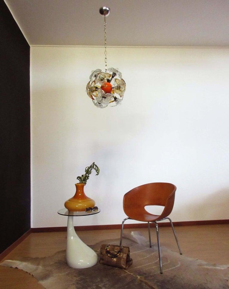 Blown Glass Murano Sputnik Chandelier by Mazzega, Italy, 1970s