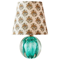 Murano Table Lamp in Emerald Green Glass, Italy, 1950s