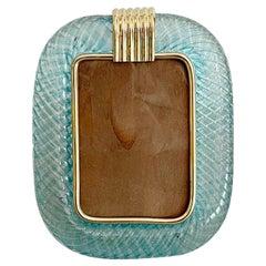 Murano Turquoise Photo Frame by Venini