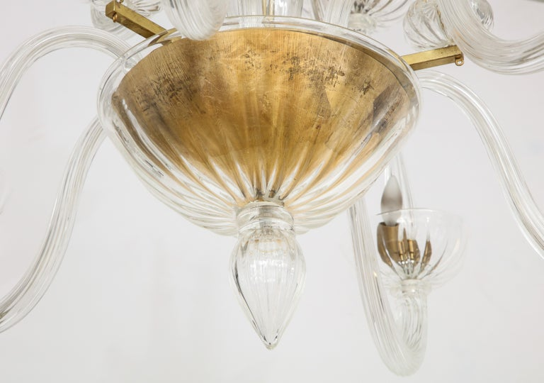 Murano Twelve Arm Chandelier In Good Condition For Sale In Mt. Kisco, NY