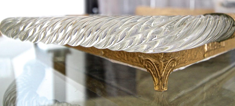 Murano Twisted Rope Glass Vanity Tray For Sale 6