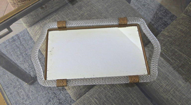Murano Twisted Rope Glass Vanity Tray For Sale 8
