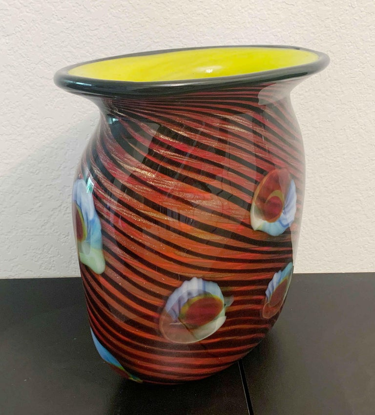 Mid-Century Modern Murano Vase For Sale