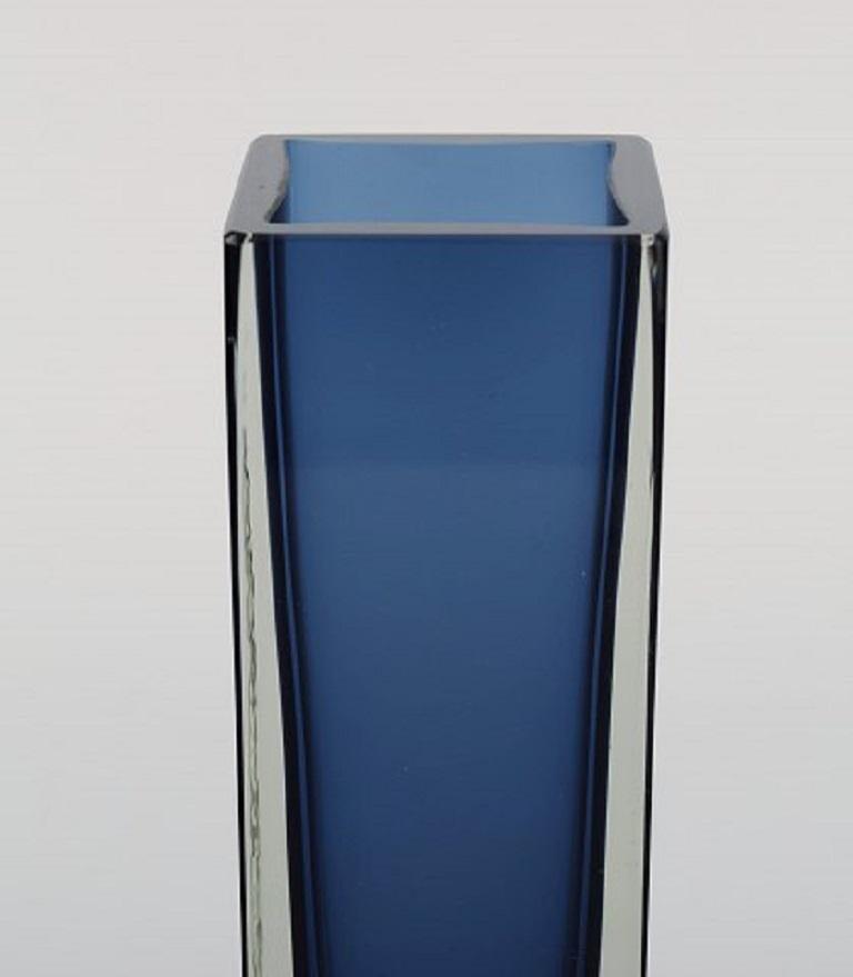 Mid-Century Modern Murano Vase in Mouth-Blown Art Glass, Italian Design, 1960s For Sale