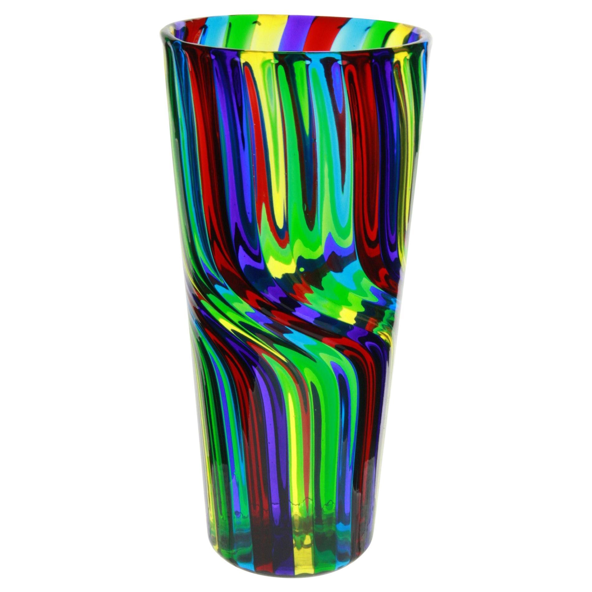 Murano Vase Masterpiece, Doppio Ritorto Amazing Technique, Signed