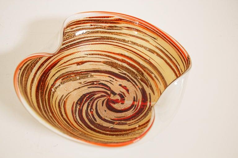 Murano Venetian Hand Blown Art Glass Ashtray by Alfredo Barbini For Sale 6