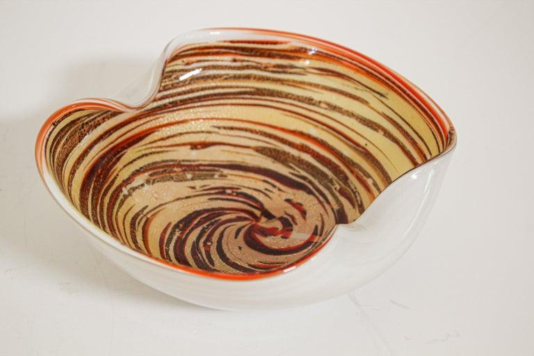 Murano Venetian Hand Blown Art Glass Ashtray by Alfredo Barbini For Sale 10