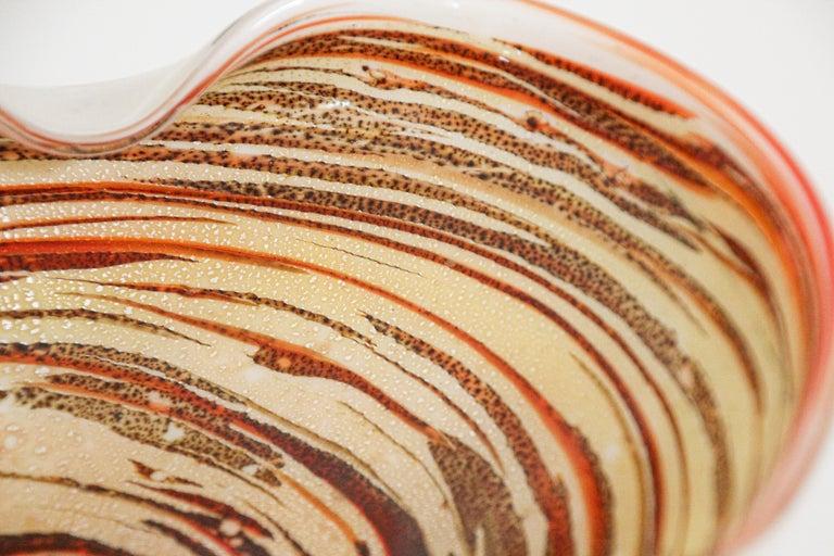Murano Venetian Hand Blown Art Glass Ashtray by Alfredo Barbini For Sale 11