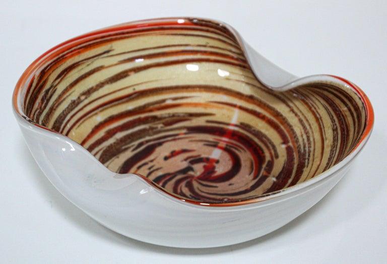 Blown Glass Murano Venetian Hand Blown Art Glass Ashtray by Alfredo Barbini For Sale