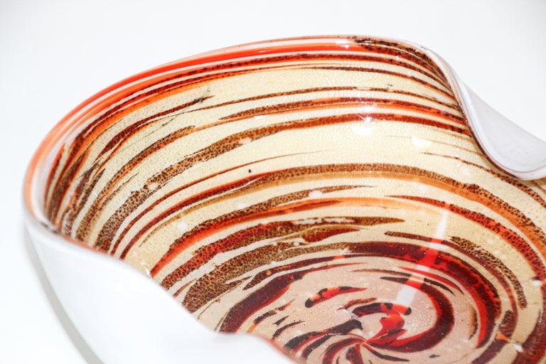 Murano Venetian Hand Blown Art Glass Ashtray by Alfredo Barbini For Sale 1