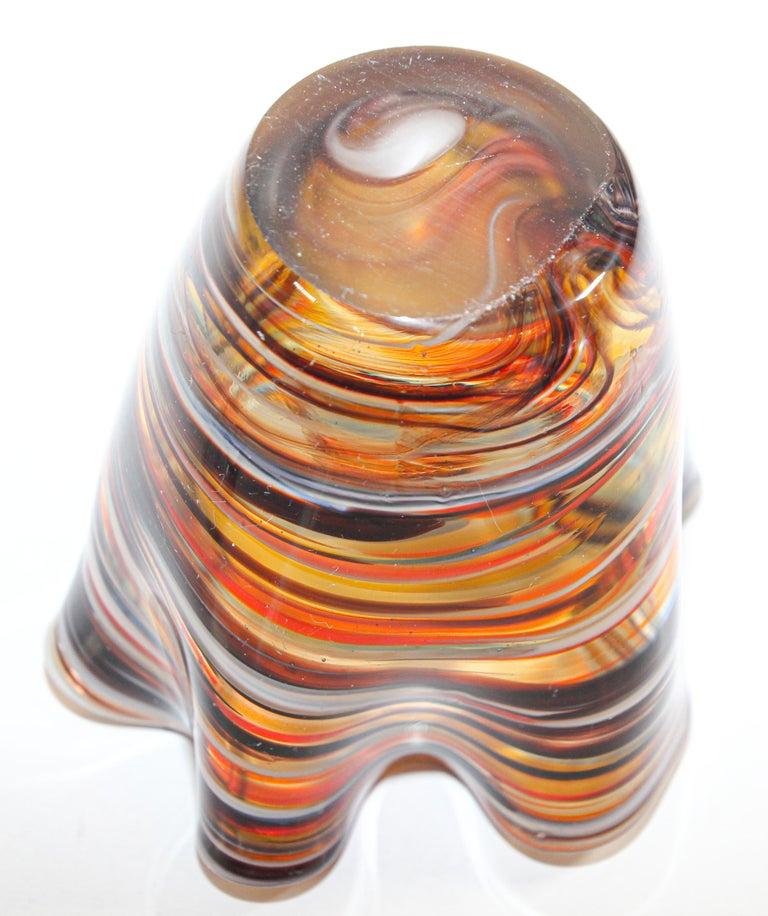 Murano Venetian Hand Blown Art Glass Vase For Sale 3