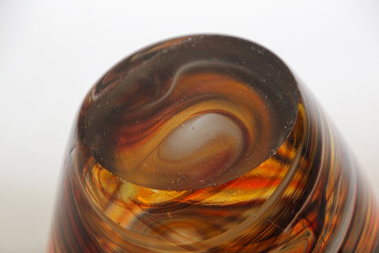 Murano Venetian Hand Blown Art Glass Vase For Sale 10
