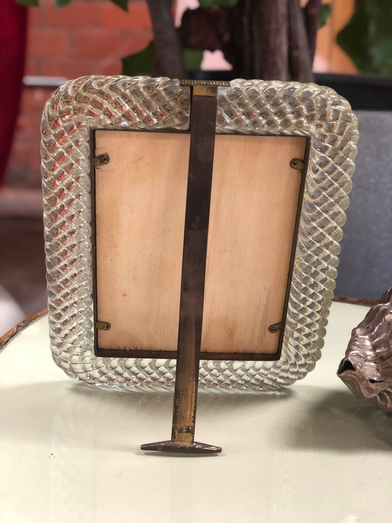 Murano Venini Glass Frame, Italy, 1940s In Good Condition For Sale In Los Angeles, CA