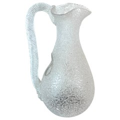 Murano Vetro Rugiadoso Glass Pitcher with Chiller