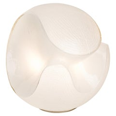 Murano White Glass Table Lamp, Italy 1970s
