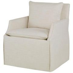 Murcia Swivel Chair in Cream by CuratedKravet
