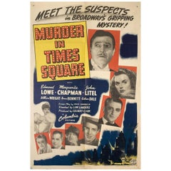 """""""Murder in Times Square"""" 1943 U.S. One Sheet Film Poster"""