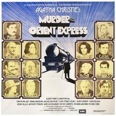 Murder on the Orient Express 1974 British Six Sheet Film Poster